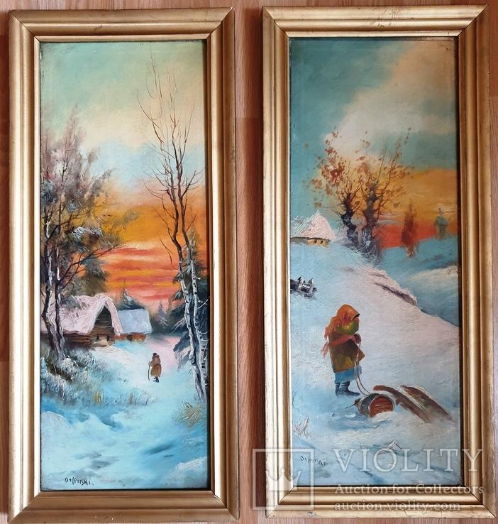 Зима . Орлянский ( Польский художник ) Пара, фото №2