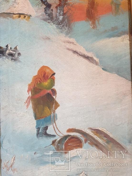 Зима . Орлянский ( Польский художник ) Пара, фото №4