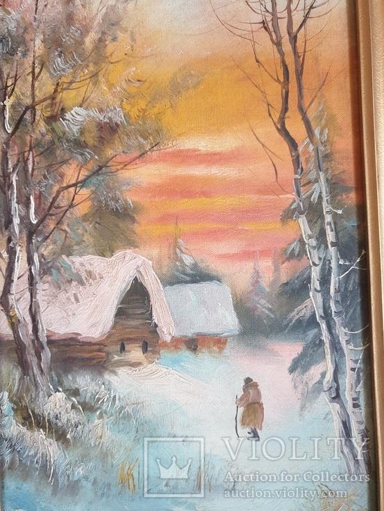 Зима . Орлянский ( Польский художник ) Пара, фото №5