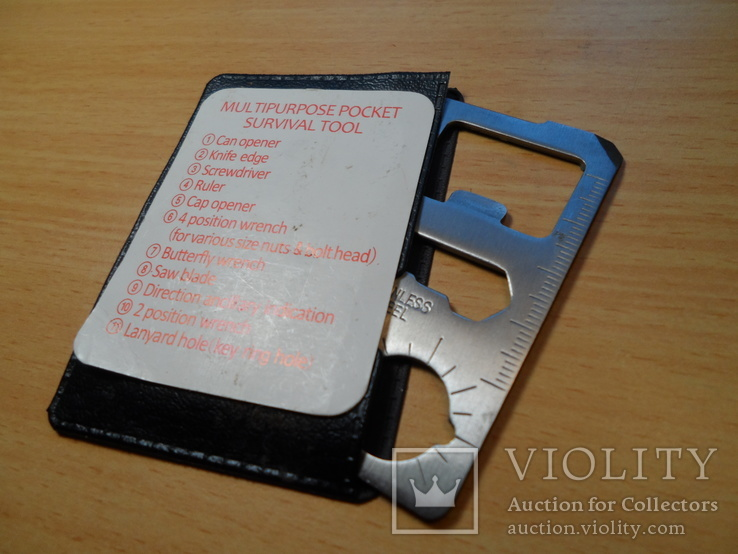Мультицелевой карманный инструмент выживания, 11 функций., фото №4