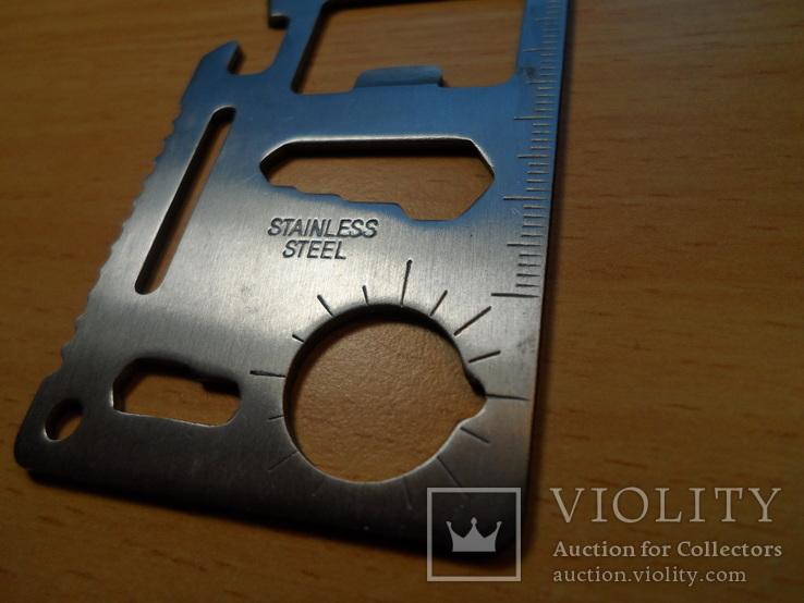 Мультицелевой карманный инструмент выживания, 11 функций., фото №12