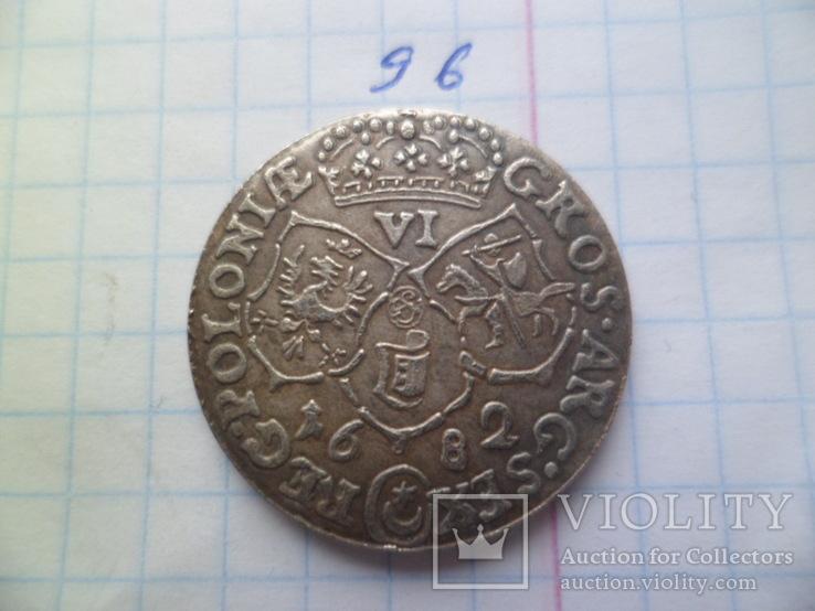 6 грош 1682 год  Ян ІІІ Польша  копия, фото №4