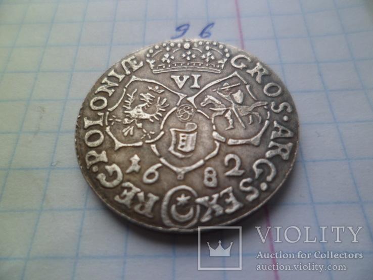 6 грош 1682 год  Ян ІІІ Польша  копия, фото №5