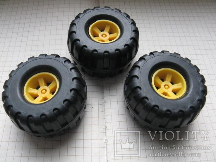 """Колеса, """"запаски"""" на авто игрушечное- 3 шт., фото №3"""
