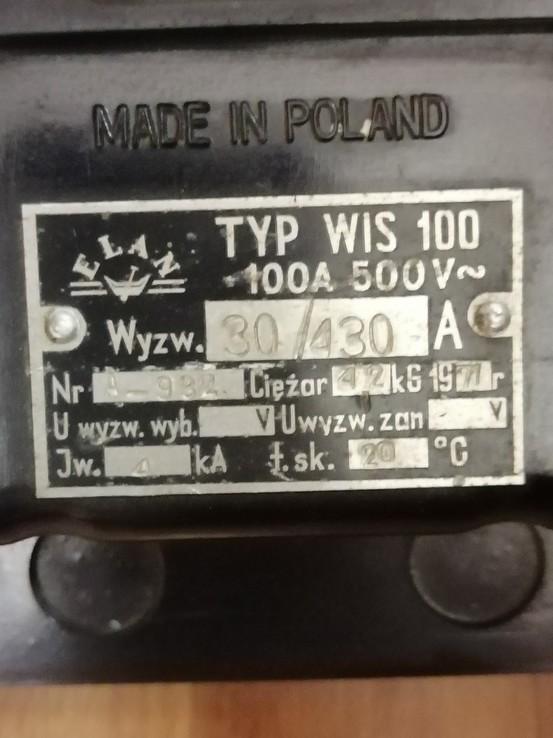 Мощный 100Ам автомат TYP WIS 100 A 500V Польша, фото №4