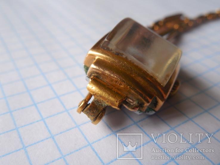 Часы Заря 40 лет КАЗ СССР Au с браслетом, фото №8