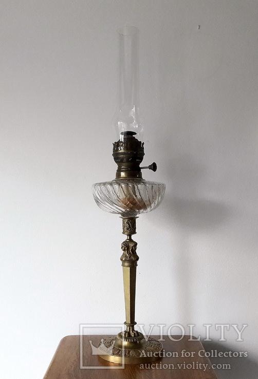 Антикварна керосинова лампа, фото №2