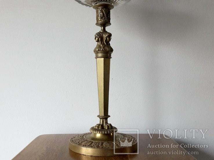 Антикварна керосинова лампа, фото №7