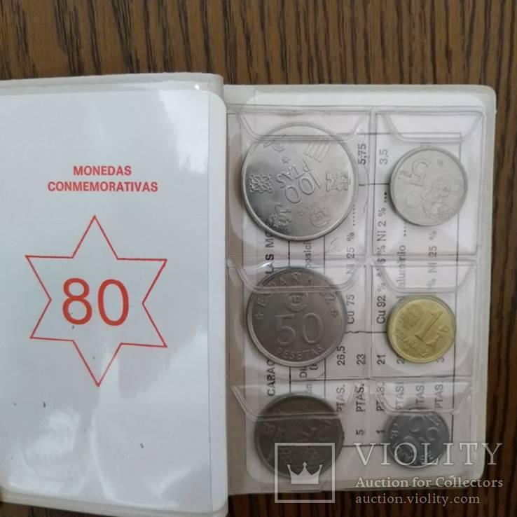 Річний набір монет Іспанії 1980р., фото №2