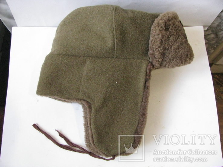 Шапка ушанка армии Болгарии с кокардой, фото №6