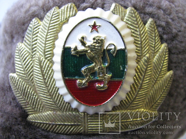 Шапка ушанка армии Болгарии с кокардой, фото №12
