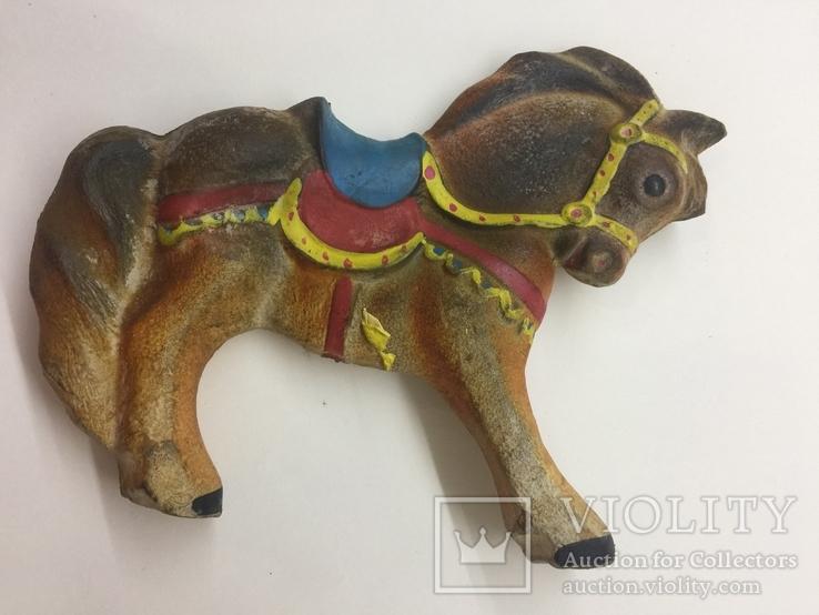 Игрушка резиновая Лошадь  пищалка новая времён СССР, фото №4