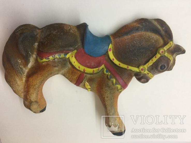 Игрушка резиновая Лошадь  пищалка новая времён СССР, фото №7
