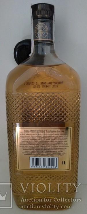 Текила Sombrero Negro Gold, 1 литр, Мексика, фото №3