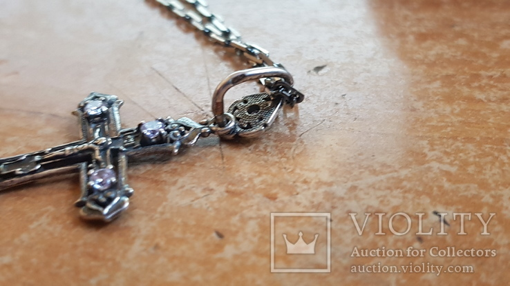 Крестик + цепочка 60 см, серебро 925. Вес 7.30 г., фото №7