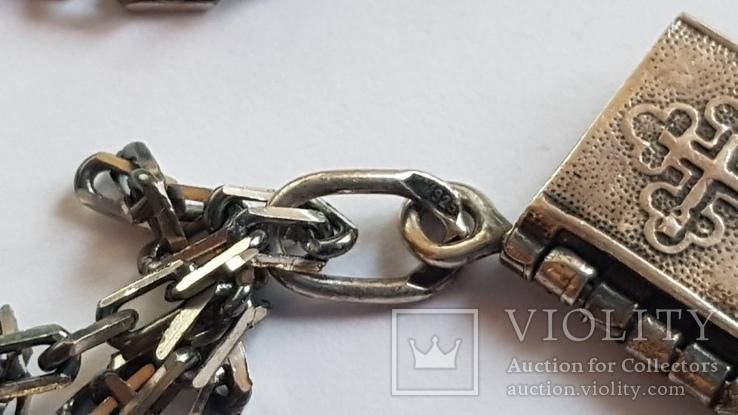 Подвес - Отче Наш с цепочкой. Серебро 925. Вес 8.1 г. Длина 60 см., фото №6