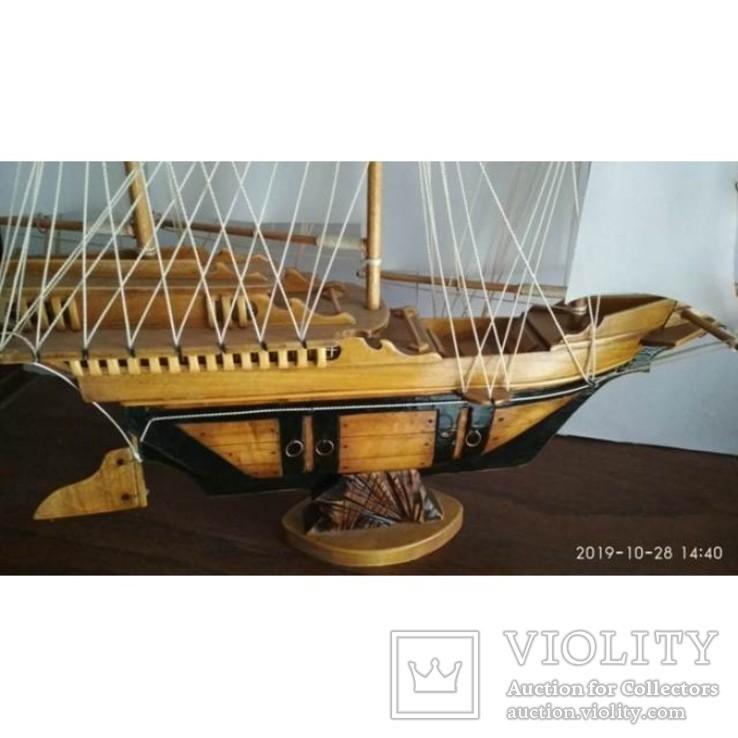 Модель Парусник, корабль, фрегат ручной работы, фото №4