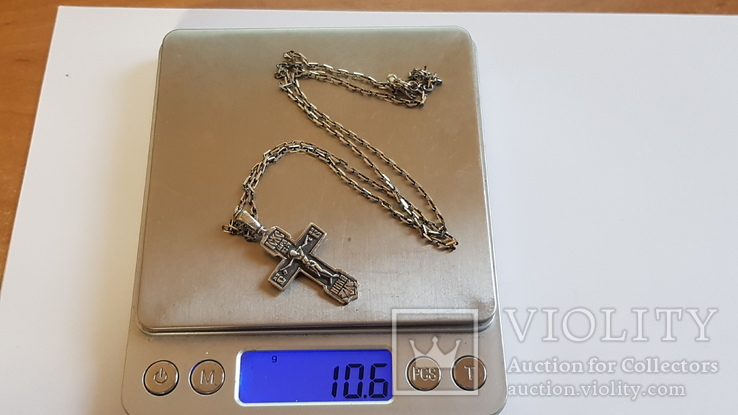 Крестик нательный с цепочкой. Серебро 925. Вес 10.7 г. Длина 60 см., фото №7