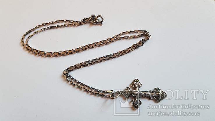 Крестик + цепочка 50 см, серебро 925. Вес 5.40 г., фото №2