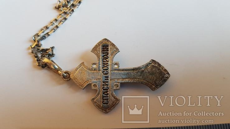 Крестик + цепочка 60 см, серебро 925. Вес 11.1 г., фото №5