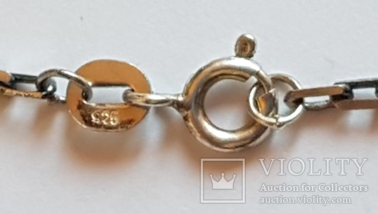 Крестик + цепочка 60 см, серебро 925. Вес 11.1 г., фото №7