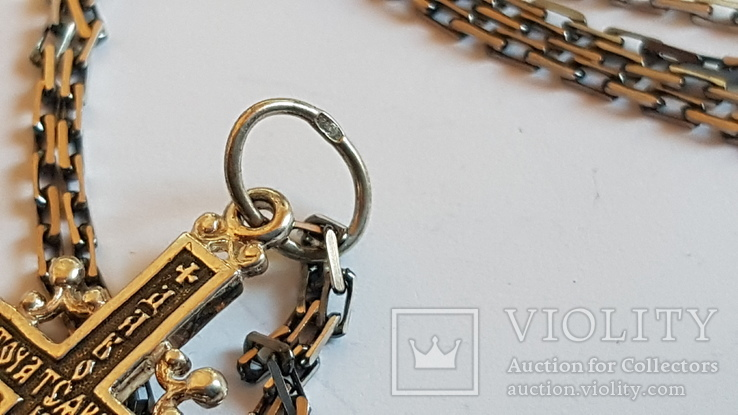 Крестик + цепочка 50 см, серебро 925. Вес 7.3 г., фото №5