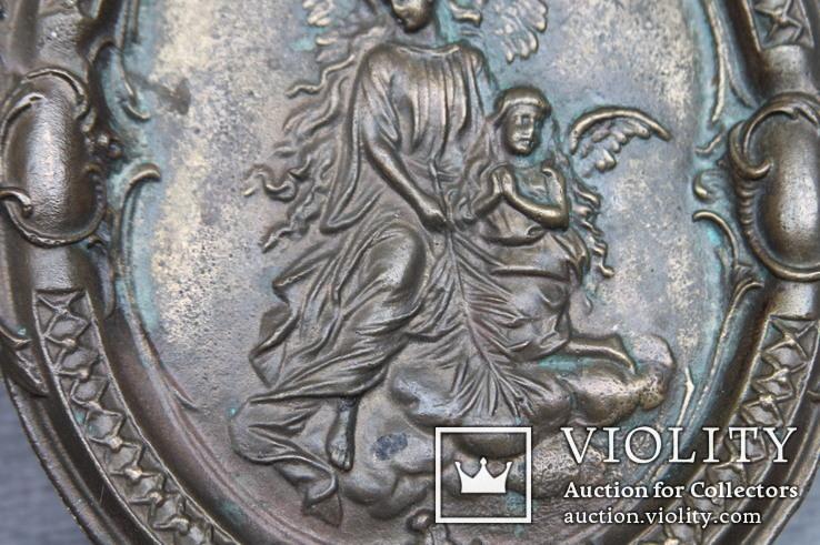 Панно ангелы бронза вес 1.718 кг., фото №5