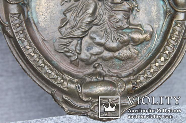 Панно ангелы бронза вес 1.718 кг., фото №6