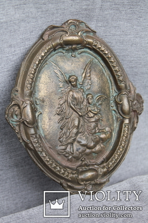 Панно ангелы бронза вес 1.718 кг., фото №9