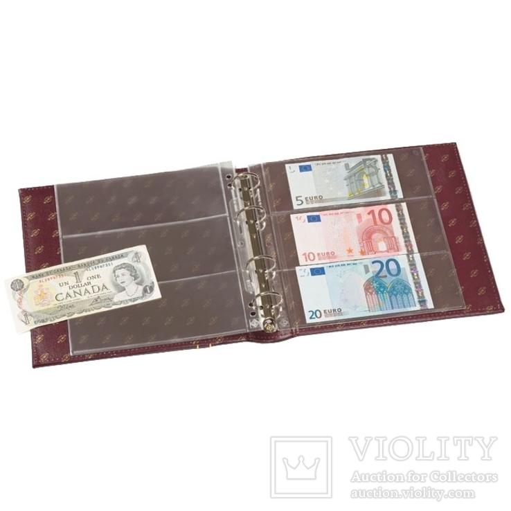 Альбом для банкнот Leuchtturm, NUMIS с футляром, (20 листов) с листами, фото №2