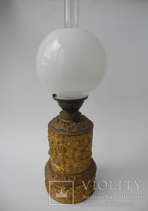 Старинная Керосиновая лампа Kosmos Brenner в стиле Барроко Рококо ( Франция ), фото №2