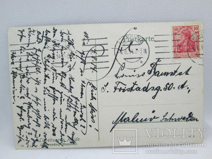 Старинная открытка  Люнебургская пустошь Германия, фото №4