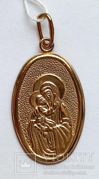 Кулон Божья матерь, 585 проба., фото №2