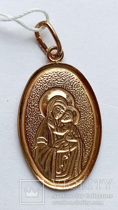 Кулон Божья матерь, 585 проба., фото №3
