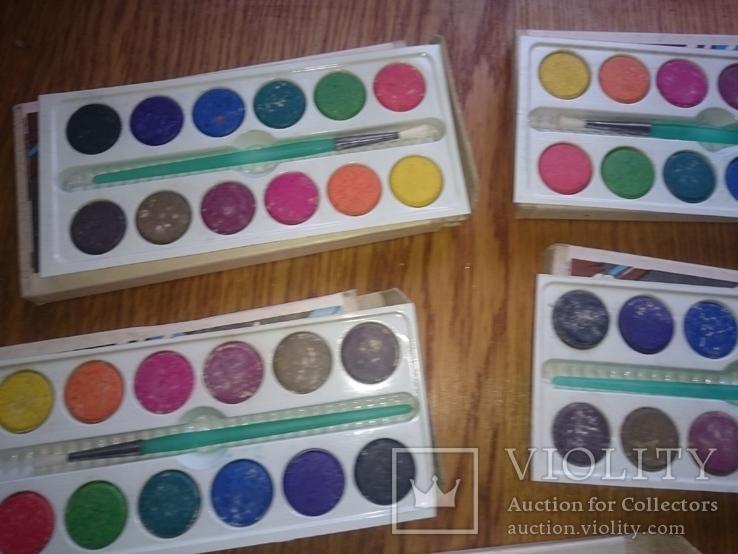 Краски школьные 12 цветов (5 Упаковок), фото №4