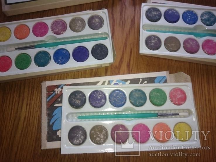 Краски школьные 12 цветов (5 Упаковок), фото №5