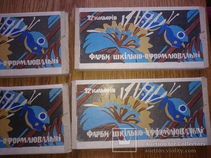 Краски школьные 12 цветов (5 Упаковок), фото №10