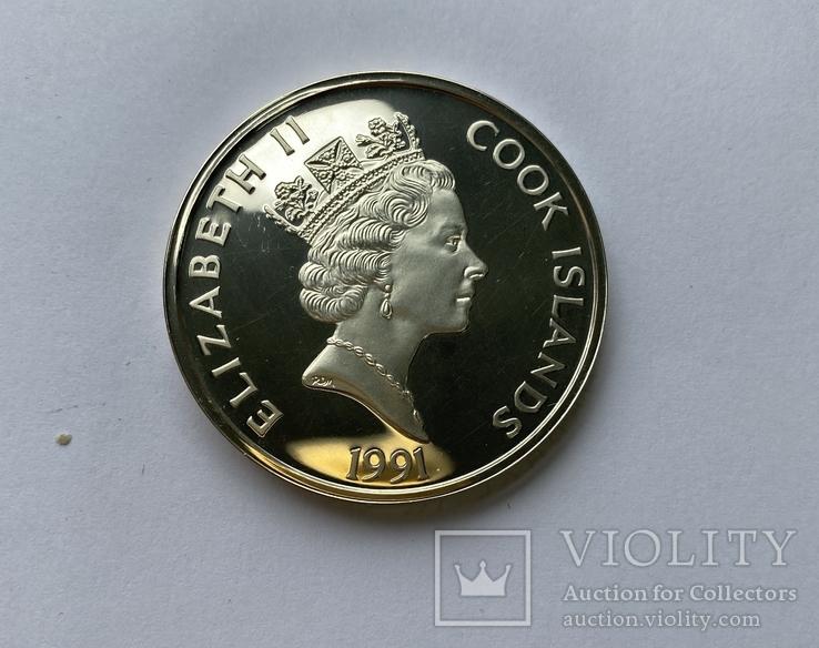 50 Долларов, серебро, 1 унция, 500 летие открытия Америки 1492-1992,, фото №4