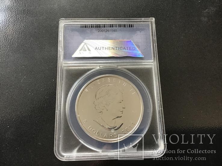 5 долларов 2011 года. Канада. Серебро, фото №3