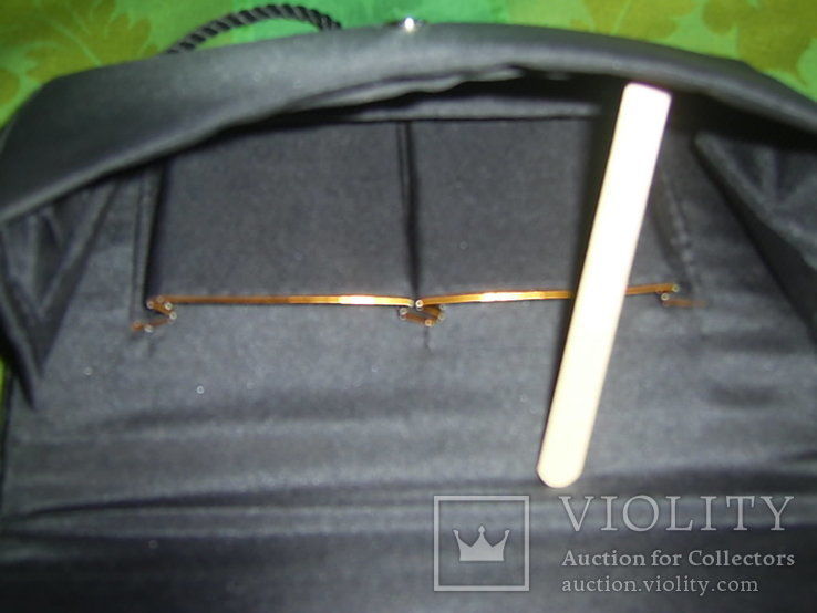 Сумочка бархатная с вышивкой металлической канителью, фото №7