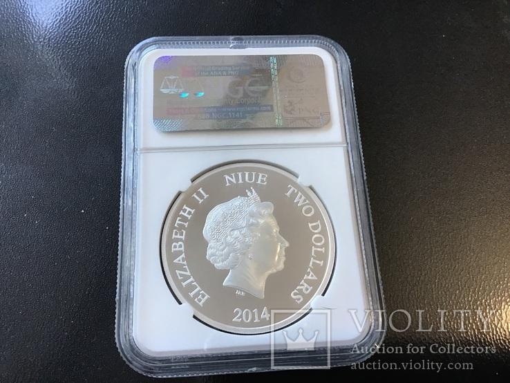 2 доллара Ниуэ 2014 года. 80 лет Диснею, фото №3