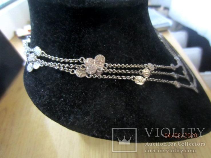 Ожерелье серебро ручная работа, фото №6