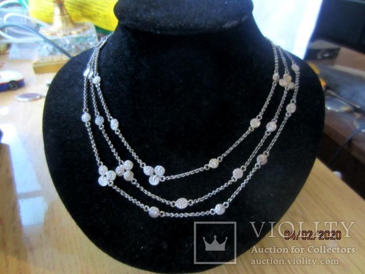 Ожерелье серебро ручная работа, фото №8