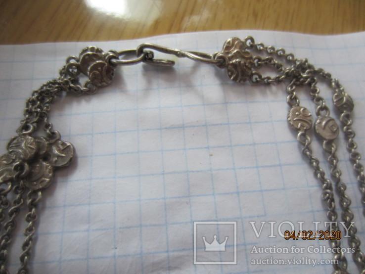 Ожерелье серебро ручная работа, фото №10