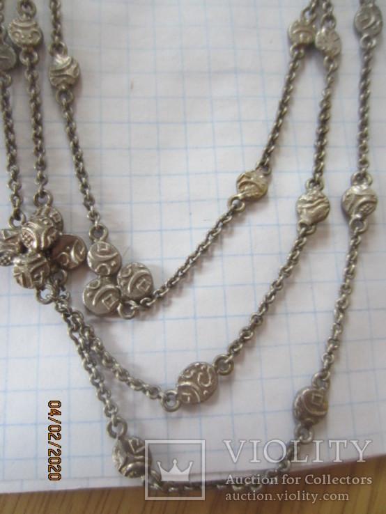 Ожерелье серебро ручная работа, фото №12