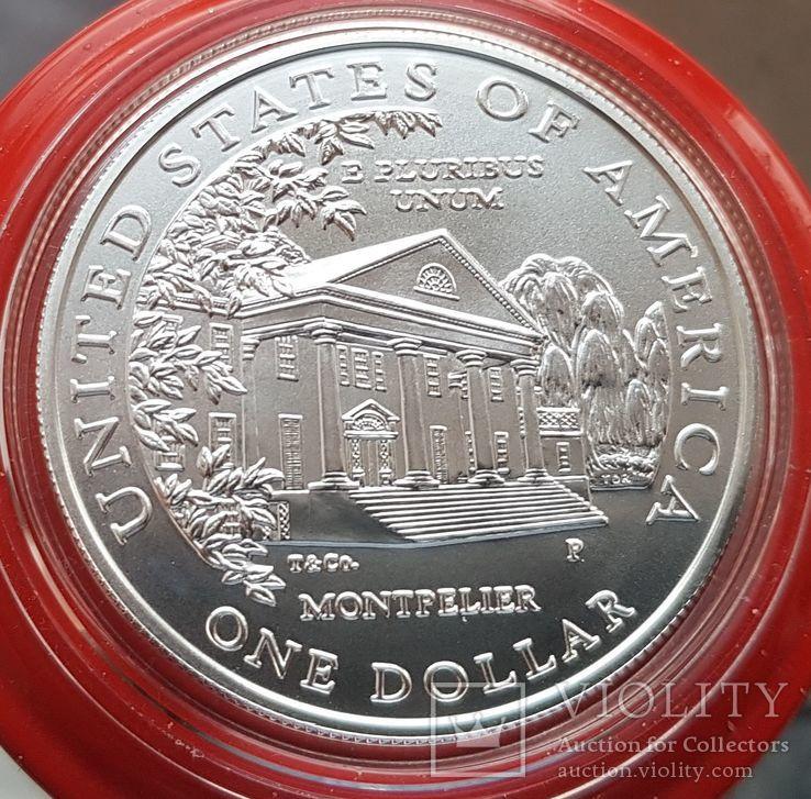 США 1 доллар 1999 г. Серебро. Долли Мэдисон. Дом Монпелье., фото №3
