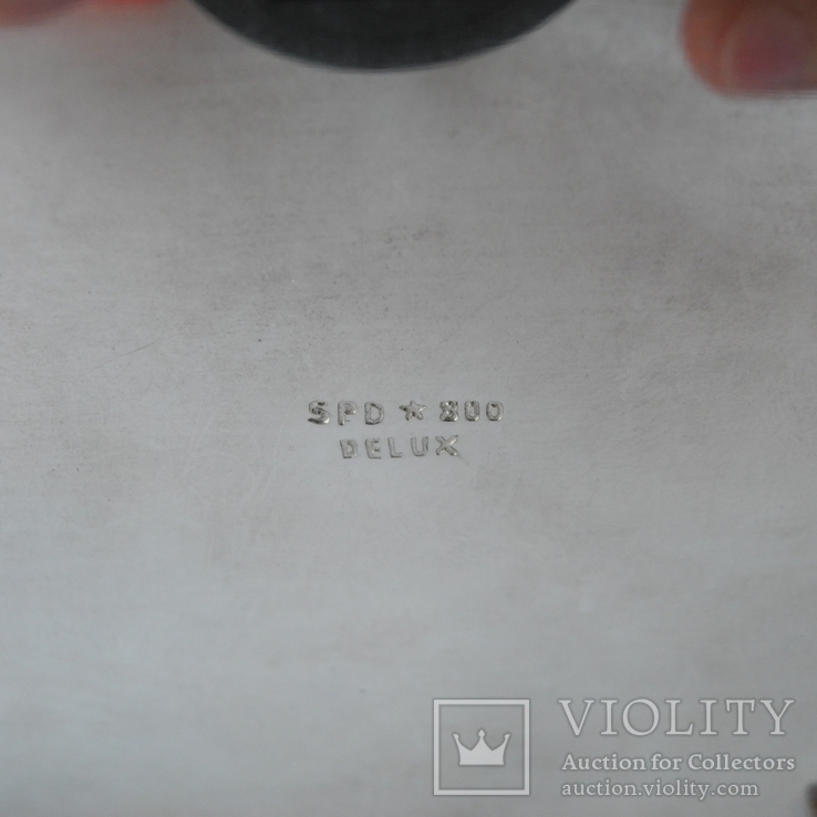Шкатулка для украшений ( Серебро 800 пр , 560 гр. ) Европа, фото №13