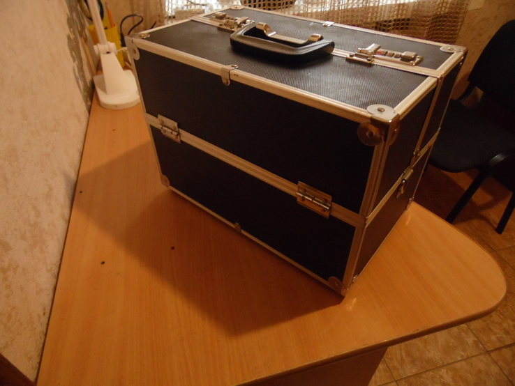 Кейс для візажиста вис 25 см дл 36  шир 22, фото №4