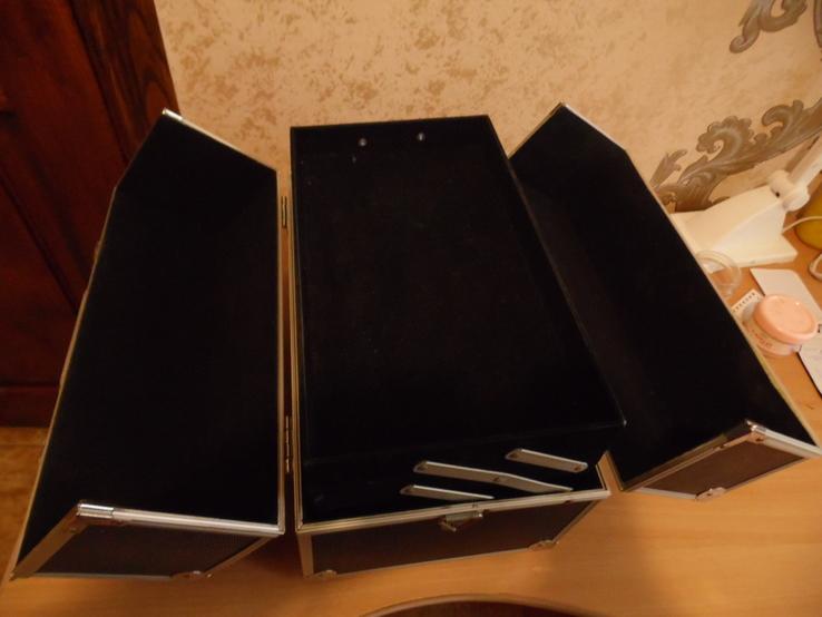 Кейс для візажиста вис 25 см дл 36  шир 22, фото №6