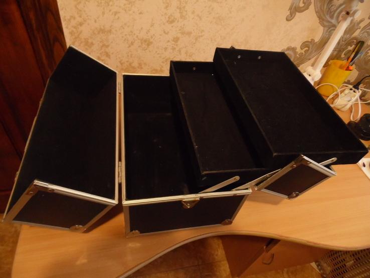 Кейс для візажиста вис 25 см дл 36  шир 22, фото №8
